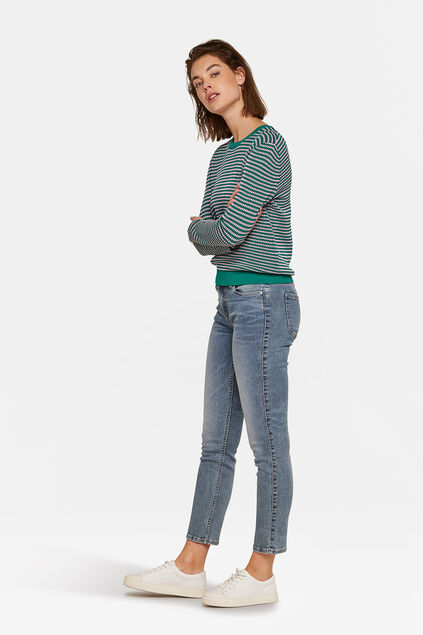 DAMEN-SLIM-FIT-JEANS AUS HIGH-STRETCH-DENIM Graublau