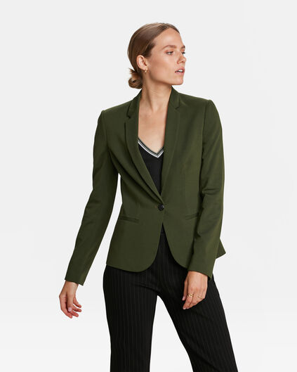 DAMEN-SLIM-FIT-BLAZER Dunkelgrün