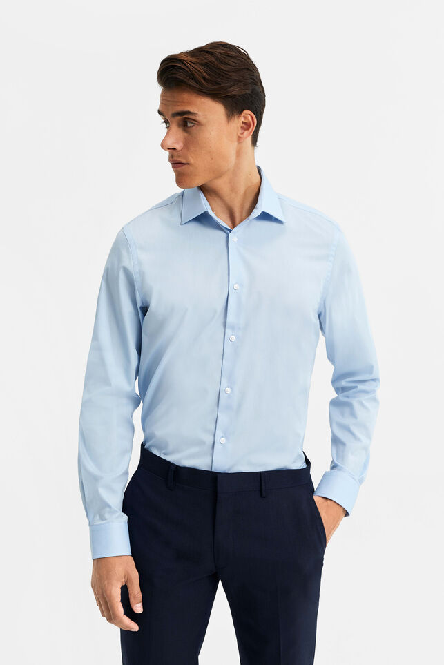 CHEMISE HOMME EASY CARE Bleu glace