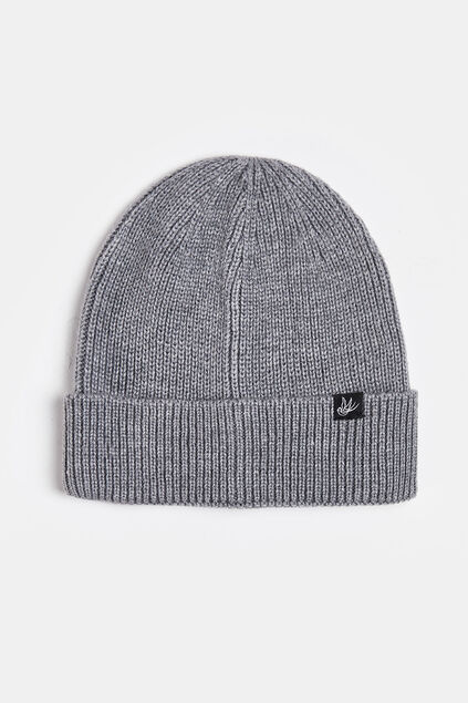 Bonnet finement tricoté homme Gris