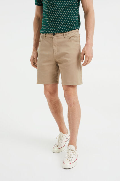 Herren-Relaxed-Fit-Shorts Hellbraun
