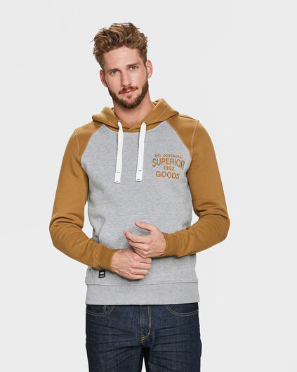 SWEAT-SHIRT HOODED HOMME Gris
