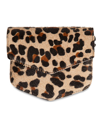 SAC LEATHER LEOPARD CROSSBODY FEMME Imprimé