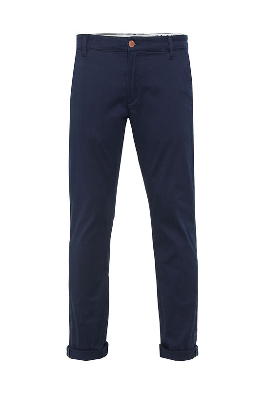 Herren-Slim-Fit-Chinos mit Stretch Dunkelblau