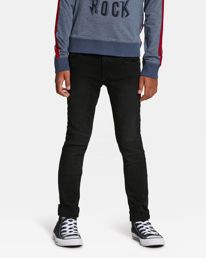 JEANS SKINNY POWER STRETCH GARÇON Noir
