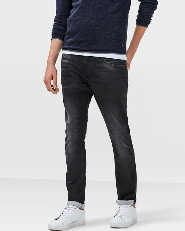HERREN-SLIM-TAPERED-JOG-DENIM Schwarz