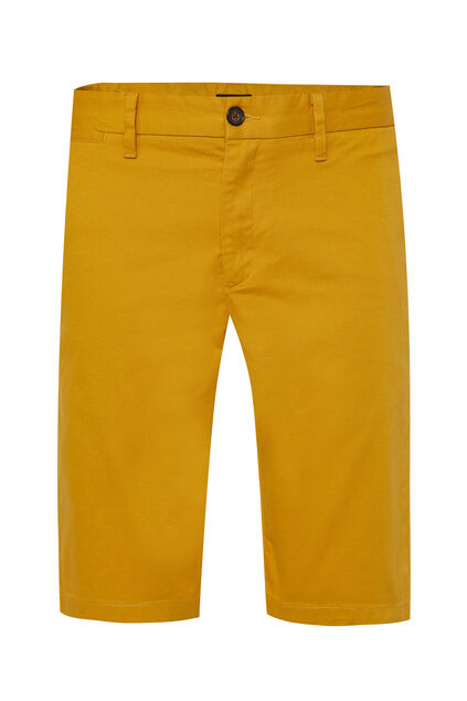 Long short chino homme Jaune moutarde