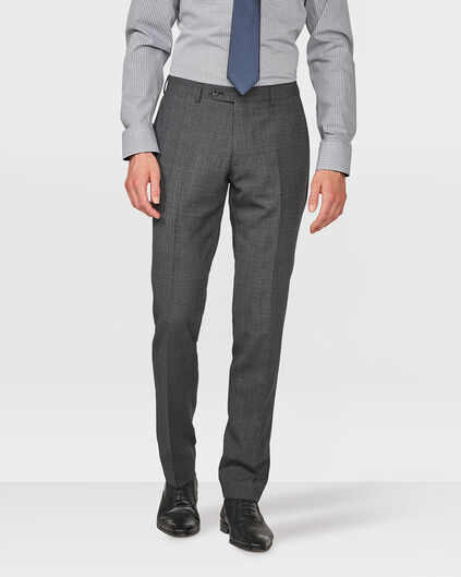 HEREN FINE CHECKED SLIM FIT PANTALON DAWLEY Dunkelgrau