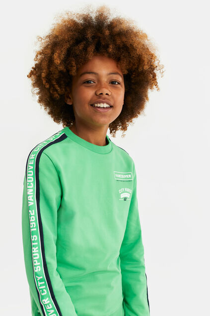 Sweat-shirt à galon garçon Vert vif