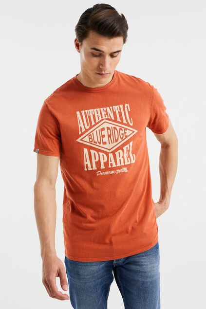 T-shirt à application homme Orange