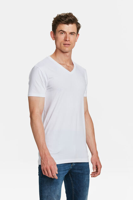 Herren-T-shirt tall Fit, 2er-pack Weiß