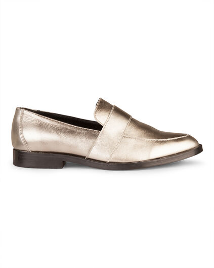 DAMEN-SLIPPERS IN METALLIC-OPTIK Silber