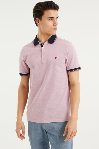 Polo slim fit homme Vieux rose