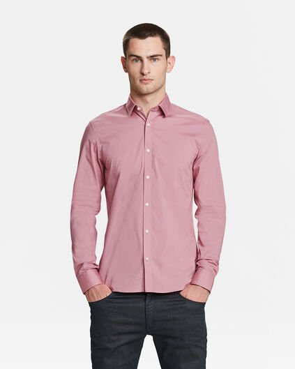 CHEMISE SLIM FIT STRETCH HOMME Rose clair