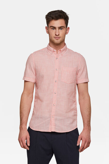 Chemise slim fit homme Orange