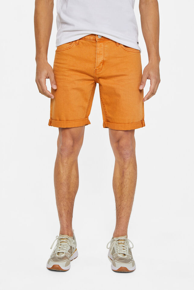 Short denim homme Orange