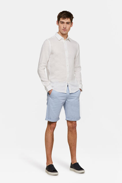 Bermuda regular fit chino homme Bleu pastel