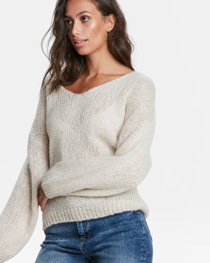 DAMENPULLOVER IN OVERSIZED-OPTIK Beige
