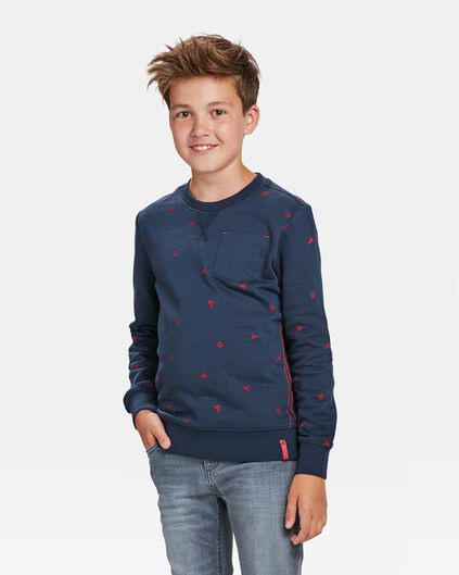 SWEAT-SHIRT SPACE PRINT GARÇON Bleu marine
