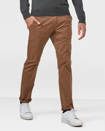 HERREN-SLIM-FIT-CHINO Karamell