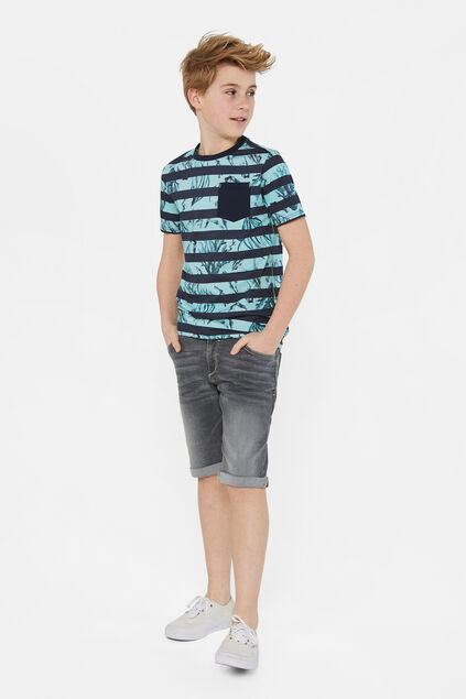 Short denim regular fit garçon Gris clair