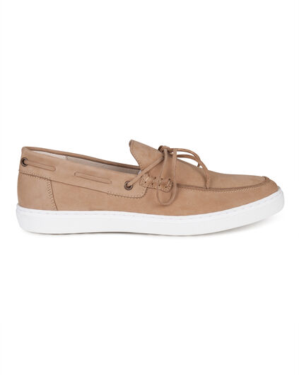 BASKETS REAL LEATHER HOMME Caramel