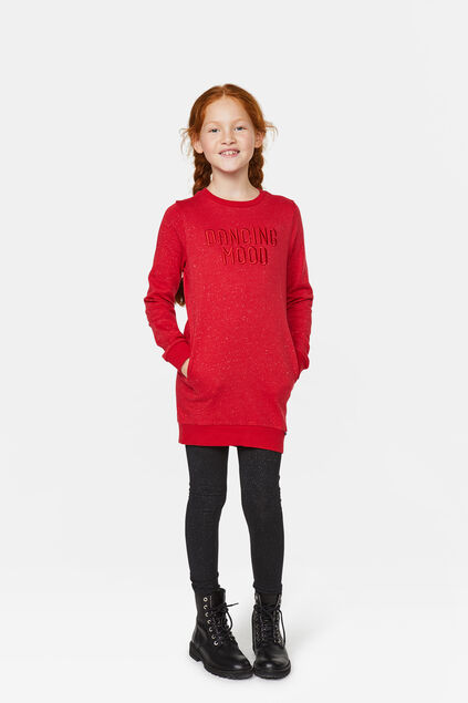 Robe sweat dancing fille Rouge vif