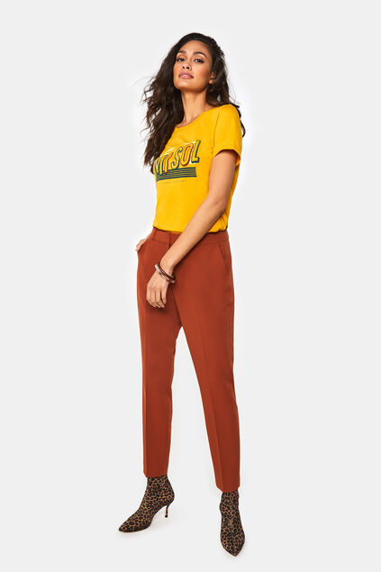 Pantalon slim fit femme Orange