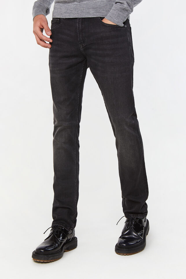 Herren-Regular-Fit-Jeans aus Jog-Denim Schwarz