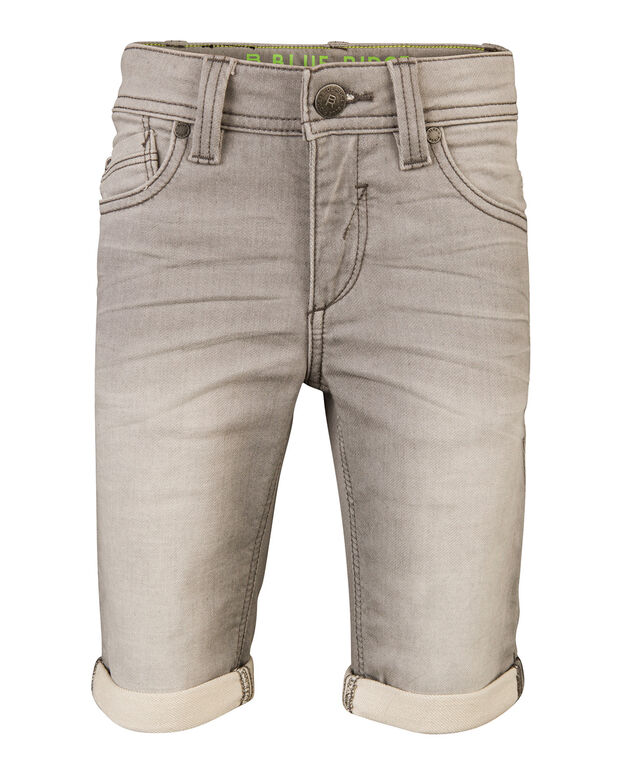 JOG DENIM SLIM FIT SHORT GARÇON Gris