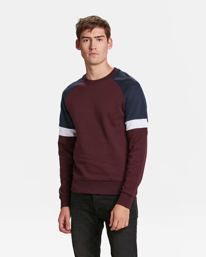 SWEAT-SHIRT COLOUR BLOCK HOMME Bordeaux