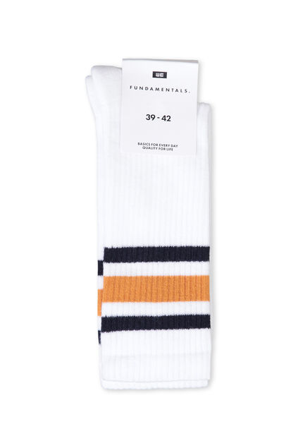 Chaussettes unies sporty homme Blanc