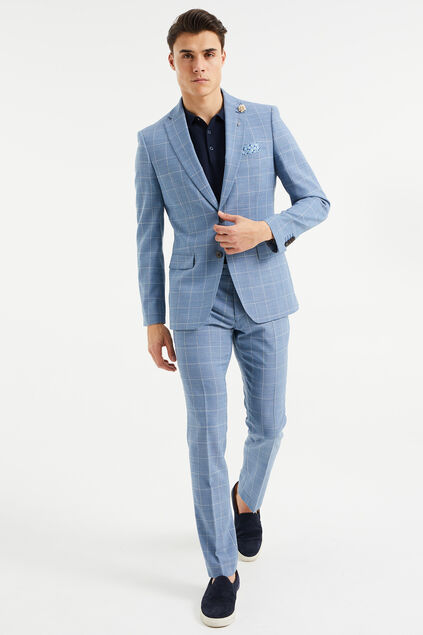 Costume slim fit à carreaux homme, Troy