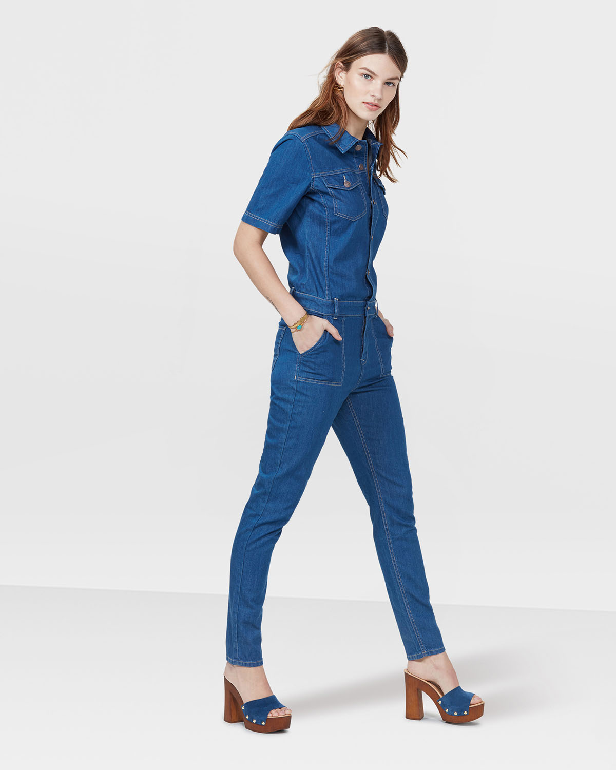 DAMEN JEANS-OVERALL   79165822 - WE Fashion 1a01089484