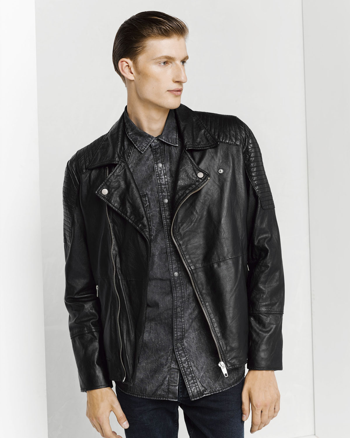 Herren Lederjacke | 94489484 WE Fashion